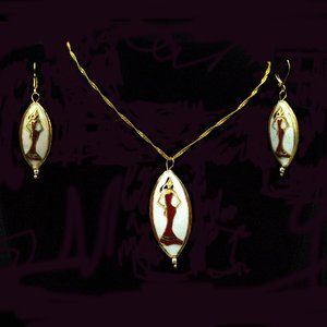 Jewelry - LADY IN RED 3-PC CLOISONNÉ NECKLACE SET - JSEWRW1
